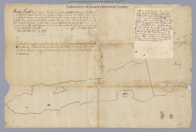 Map of Mare Point, Brunswick, 1717