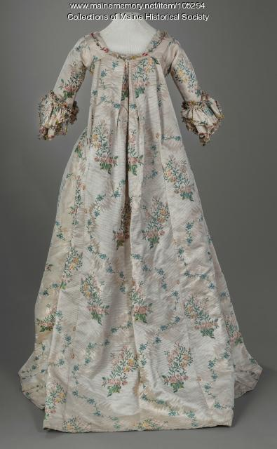 Dress worn at the English court of George III, ca. 1775