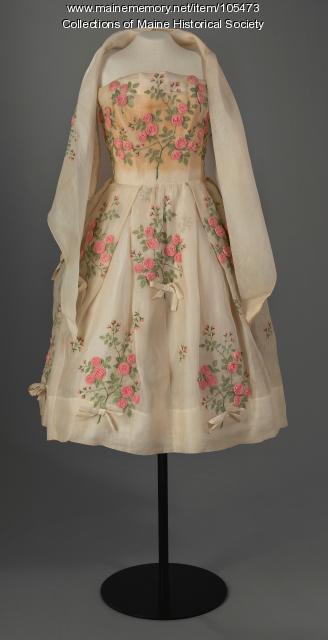 Dior inspired prom dress, ca. 1960