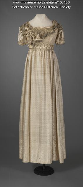 Sally Holmes's evening gown, ca. 1824