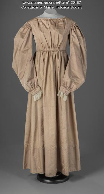 Arcy Cary Bradford's gigot sleeve wedding dress, ca. 1829