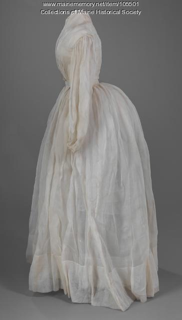 Cotton organdy summer dress, ca. 1863