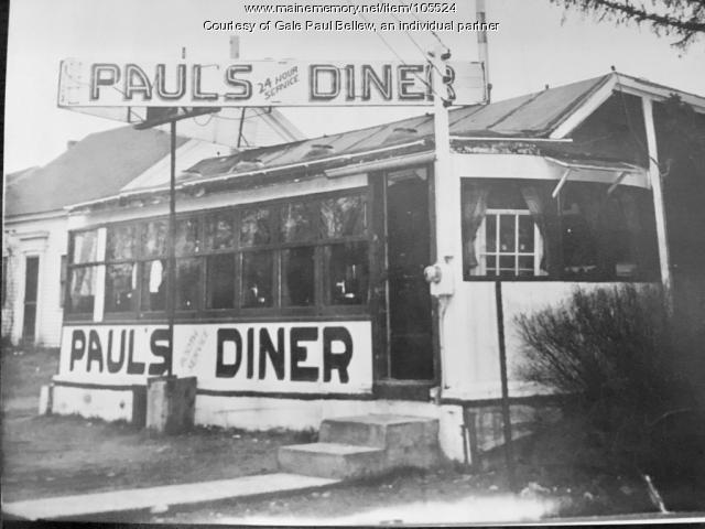 Paul's Diner, Biddeford, ca. 1947