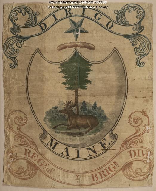 Maine Militia Flag, ca. 1822