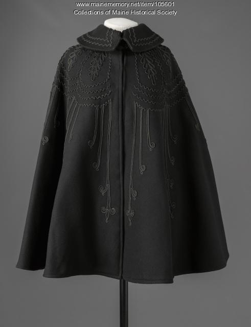 Soutache trimmed cape, ca. 1895