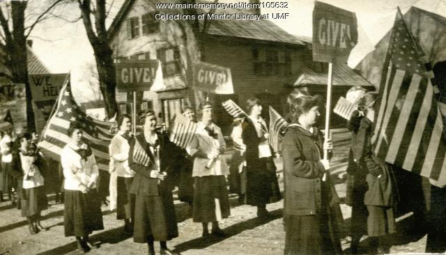 Farmington Normal Parade, 1918