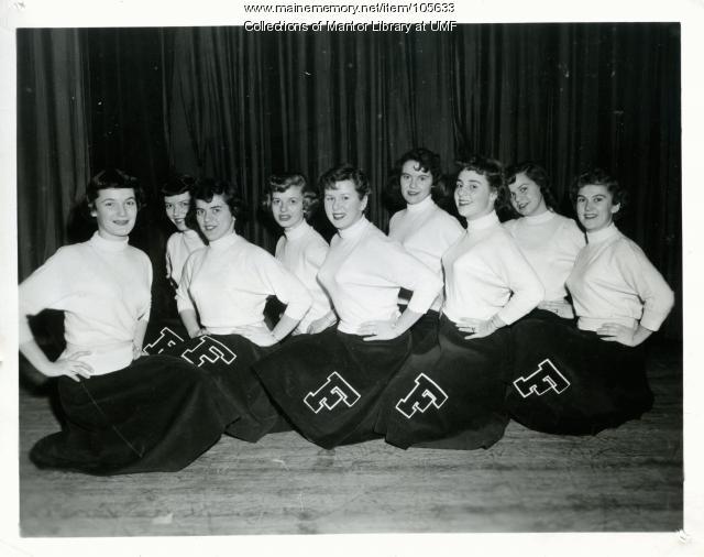 Farmington State College Cheerleaders, 1952