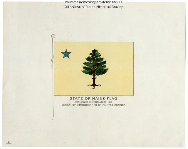 State of Maine flag design, 1901