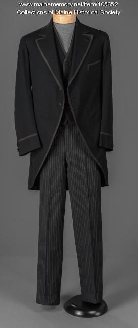 Melville H. Philpot's wedding suit, Limerick, ca. 1894