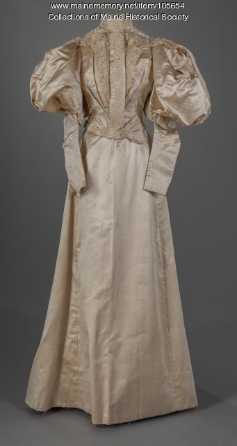 Harriet B. Goodrich's wedding dress, 1895