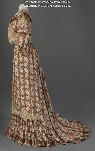 Sarah E.Thomas' silk pintucked dress, Portland, ca. 1905
