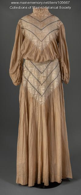 Cotton day dress, ca. 1903