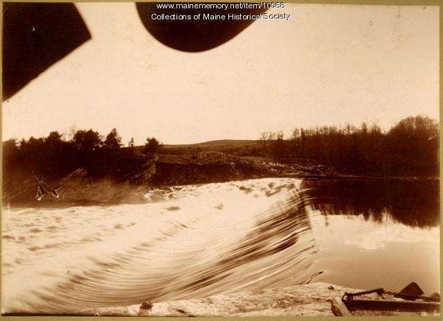 Pejepscot Dam, Topsham, from abutment, 1896