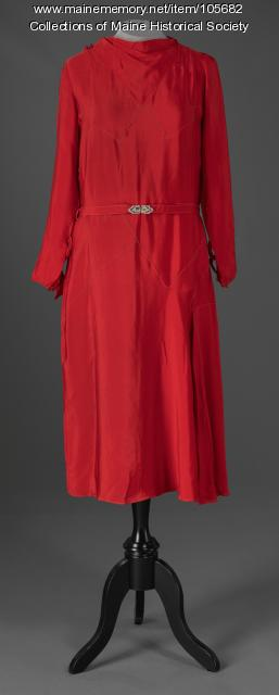 Anne Wilson's Art Deco design dress, Sommerville, MA, ca. 1925