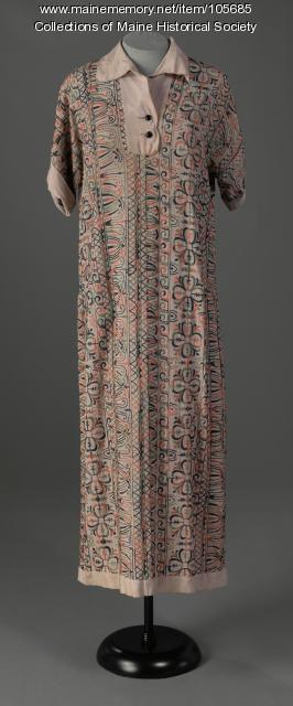 Margery Burr's embroidered dress, Kennebunkport, ca. 1920
