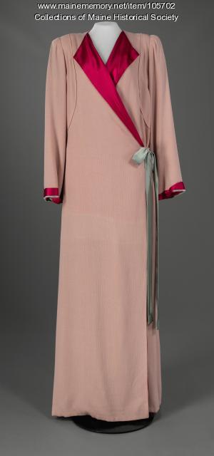 Designer couture robe, Portland, ca. 1930