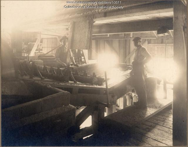 Workers at Pejepscot Paper Company, Topsham, c. 1900