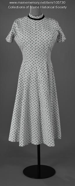 Jane Sanborn's princess-line dress, ca. 1955