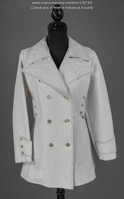 Double breasted vinyl pea coat, ca. 1975