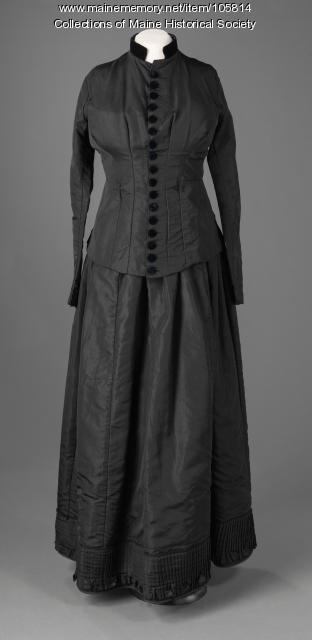Mourning dress, ca. 1878