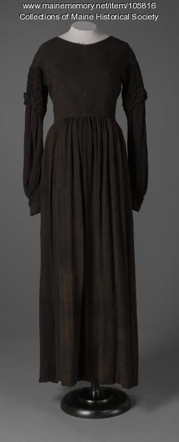 Bradbury family mourning dress, Standish, ca. 1845
