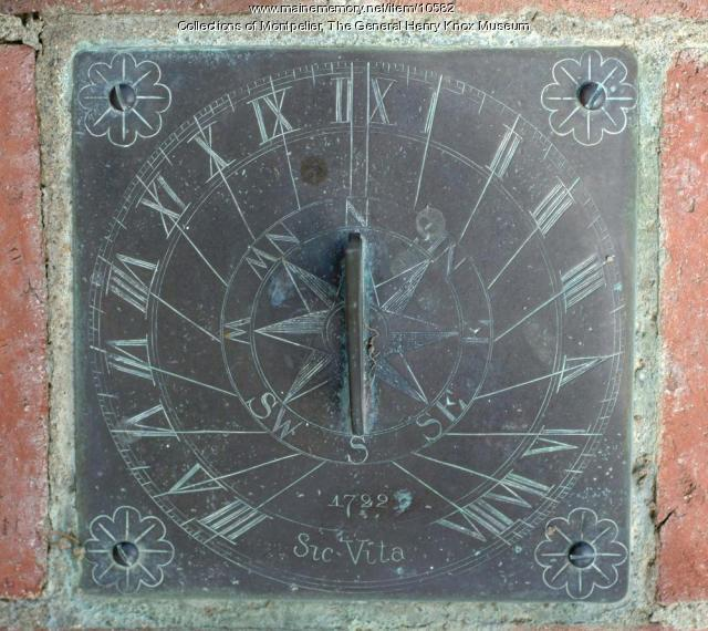 Sundial, ca. 1722