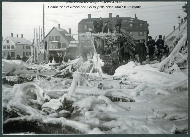 Music Hall fire, Houlton, 1905