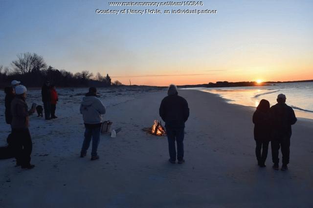 Sunrise on Easter morning, Long Island, 2020