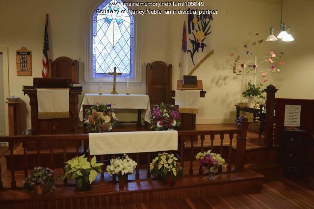 Easter morning at Evergreen United Methodist Church, Long Island, 2020