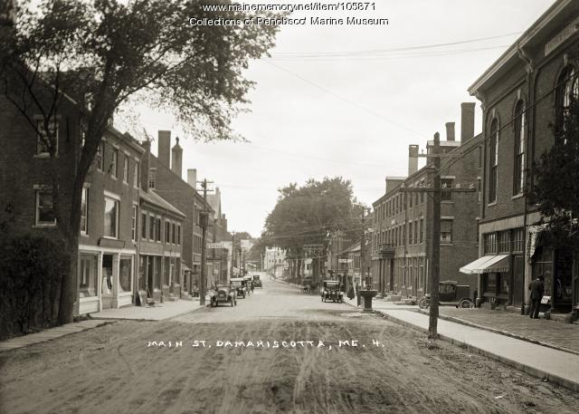 Main Street, Damariscotta, ca. 1915