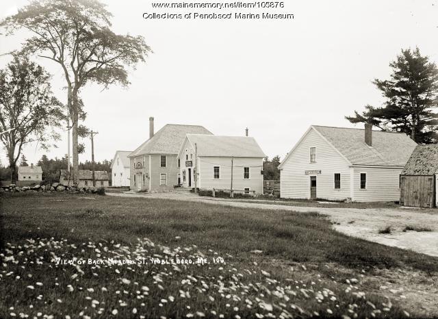 Back Meadow Street, Nobleboro, ca. 1915