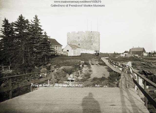 """View of the Castle"" at Pemaquid Beach, Bristol, ca. 1910"