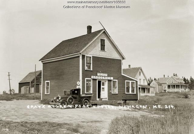 Gray's store and post office at Newagen, Southport, ca. 1920