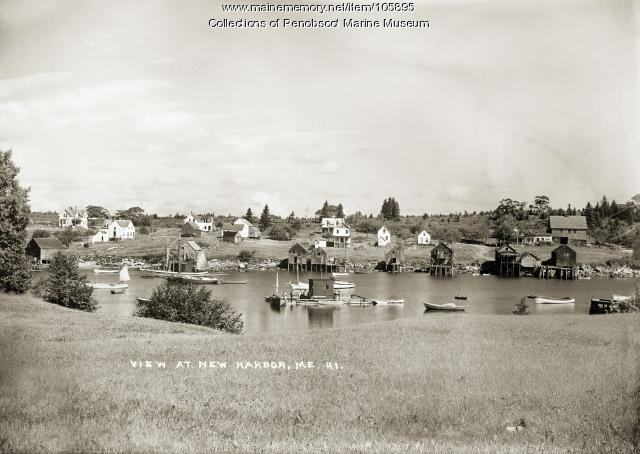 View of New Harbor, ca. 1920