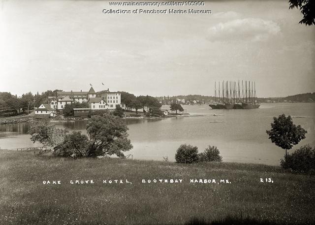 Oake Grove Hotel, Boothbay Harbor, ca. 1910