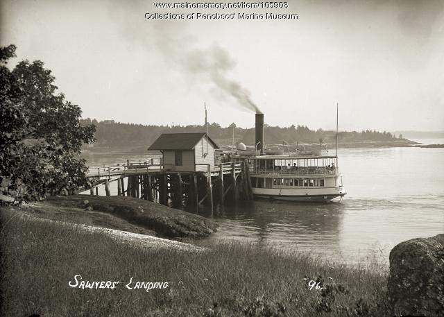 Sawyer's Landing, Boothbay,  ca. 1910