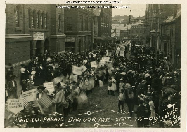 Temperance march in Bangor, 1909