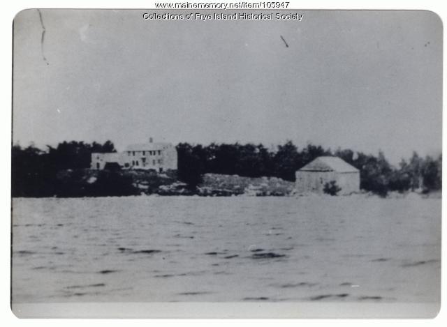 Farm house and barn, Frye Island, ca. 1870