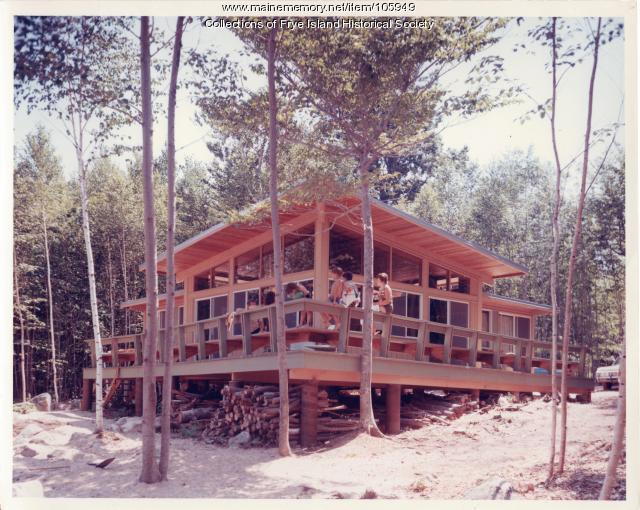 Ed Byrnes' cottage, Lot #43 Leisure Lane, Frye Island, ca. 1970