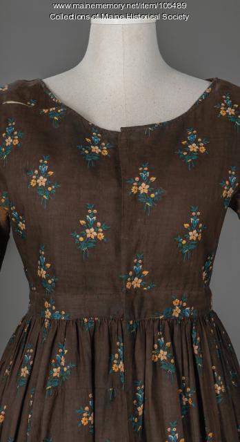 Calico dress, ca. 1850