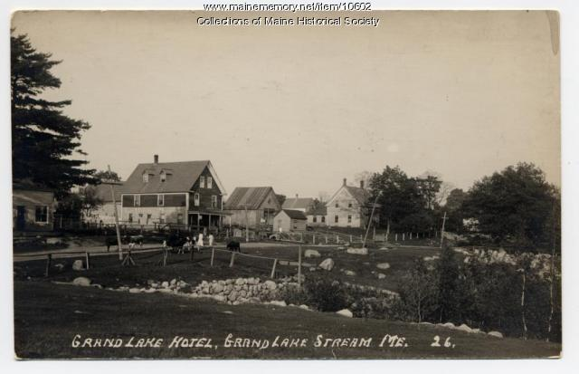 Grand Lake Hotel, Grand lake Stream, ca. 1914