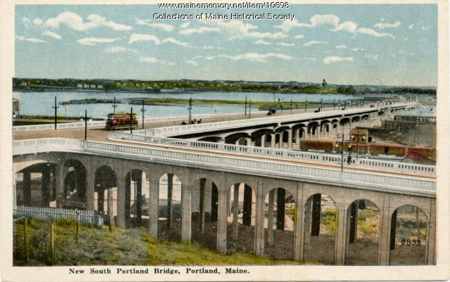 New South Portland Bridge postcard, c. 1916