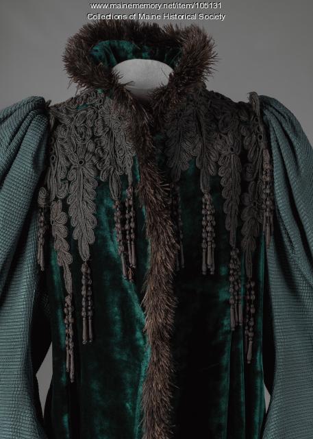 A. Rosenthal velvet coat from Berlin, Germany, ca. 1895