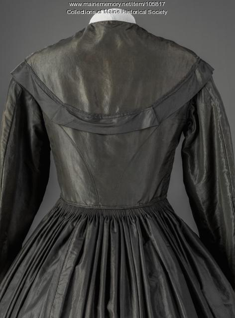 Altered mourning dress, Standish, ca. 1865