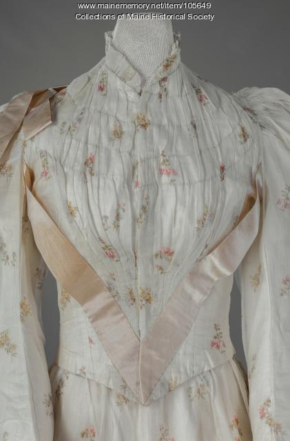 Myra Bradeen's wedding outfit, Limerick, ca. 1894