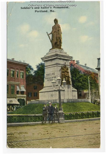Soldiers and Sailors Monument postcard, ca. 1900