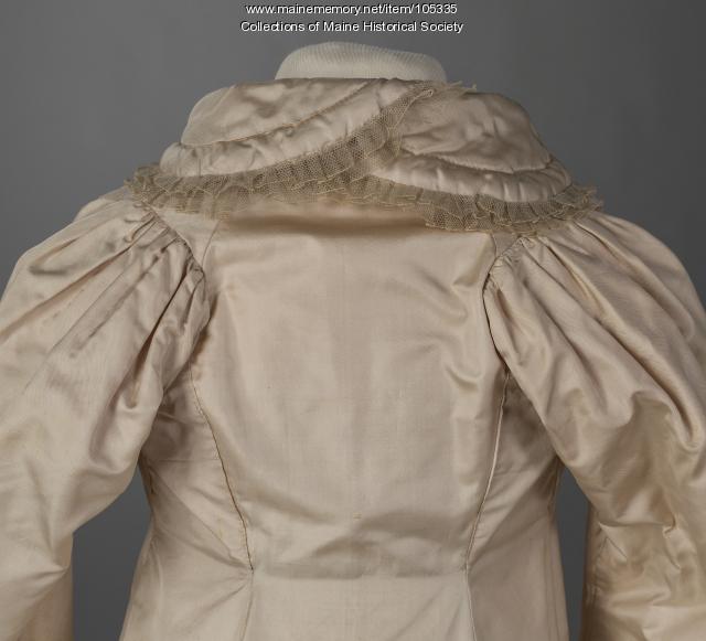 French-inspired silk coat, ca. 1800