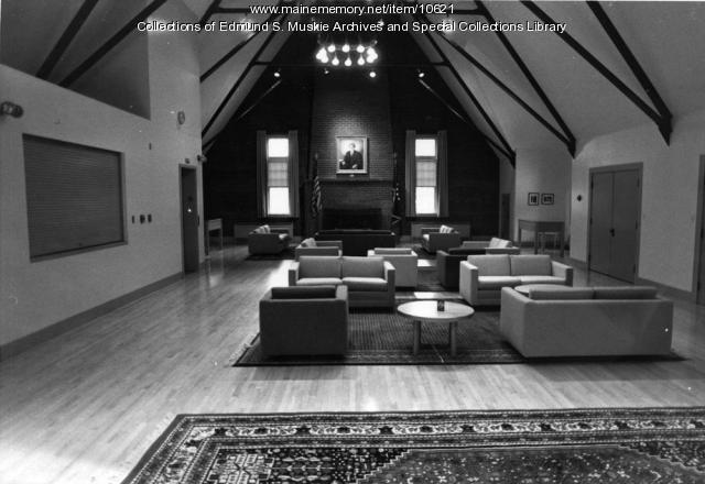 Edmund S. Muskie Room, Bates College, Lewiston, 1985