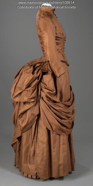 Ida Bowles' wedding dress, Gorham, ca. 1886