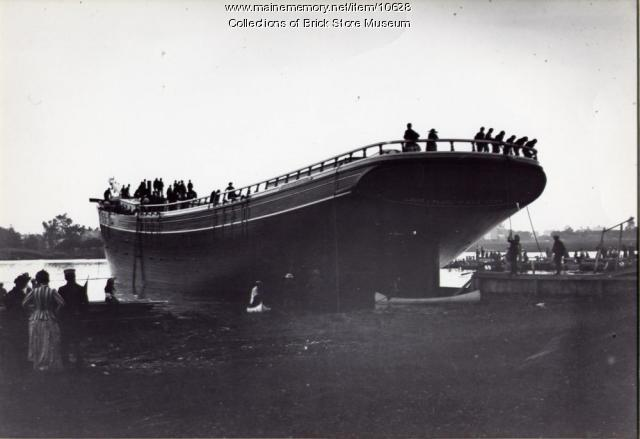 Launching of the Louis V. Place, Kennebunkport,  1890
